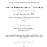 locandina corso reading 2 dicembre